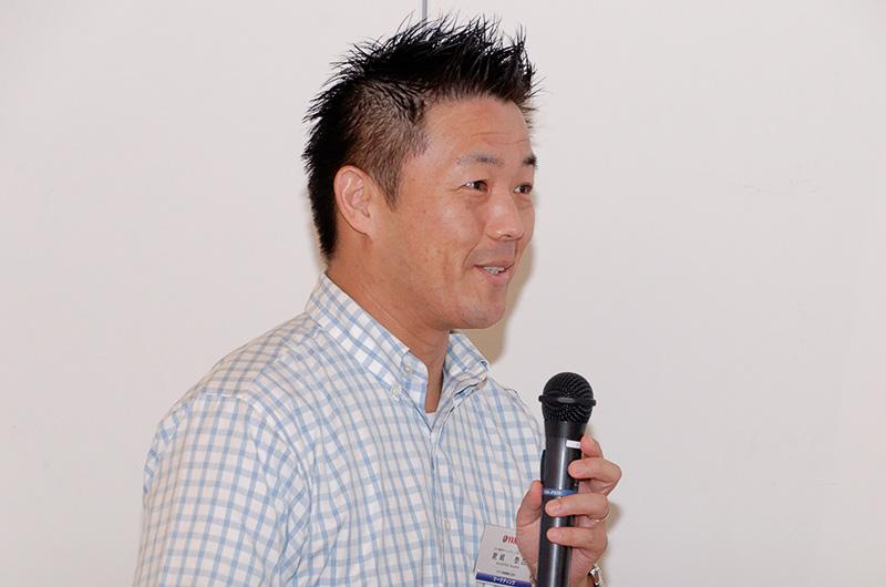 「所有感を満たすような製品作りをしていきたい」と話した、ヤマハ発動機SPV事業部 マーケティング部の鹿嶋泰広氏