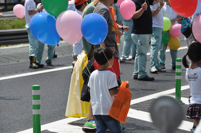 一般参加者には風船が手渡されていた