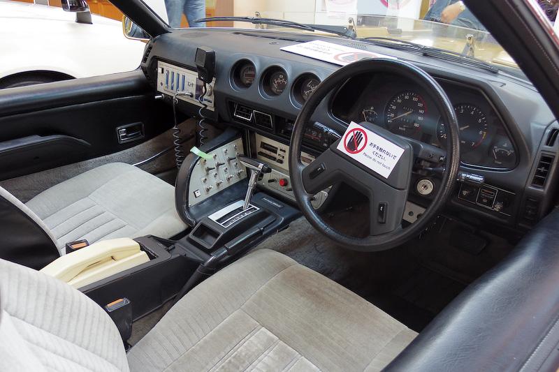 展示車両の数々。上段からスカイライン(R30)ベースのRS-1、フェアレディZ(S130)ベースのスーパーZ、オープントップのガゼール。スーパーZはAT仕様ナノネ