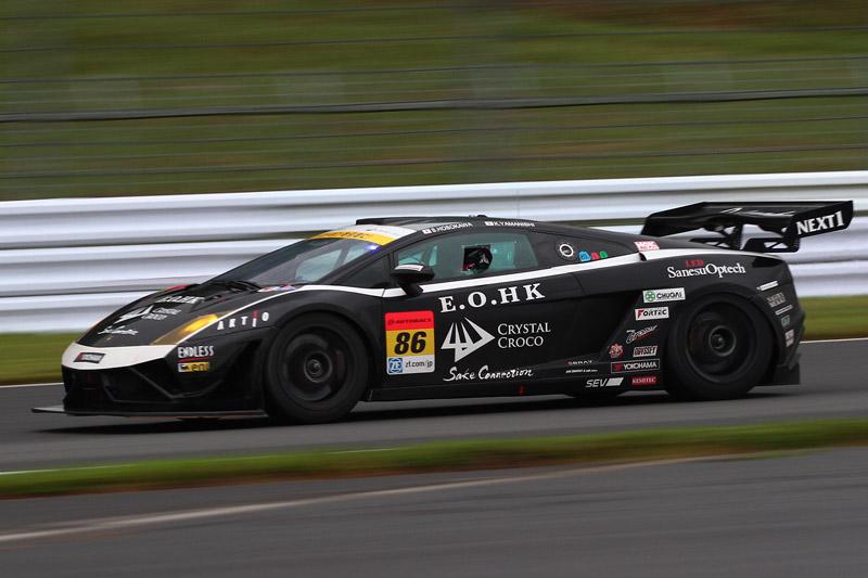 3位の86号車 クリスタルクロコ ランボルギーニ GT3(細川慎弥/山西康司)