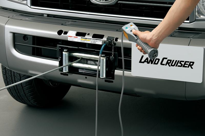 カバーを取り外し、コントローラーを接続することで「電動ウインチ」が使用可能になる