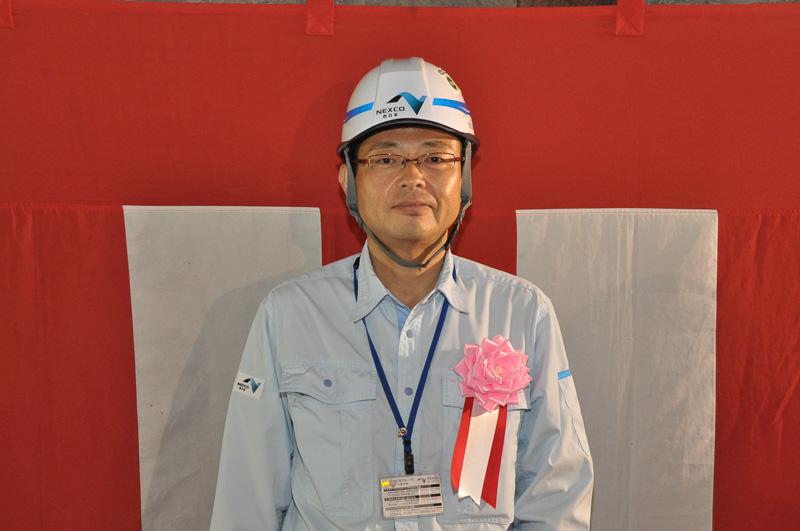 貫通式後、新名神大阪西事務所の兼澤所長に簡単にお話をうかがった