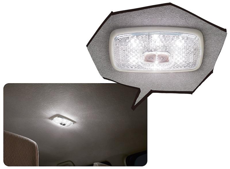 点灯時に高輝度LEDによって宝石のように輝く「LEDジュエルランプ」