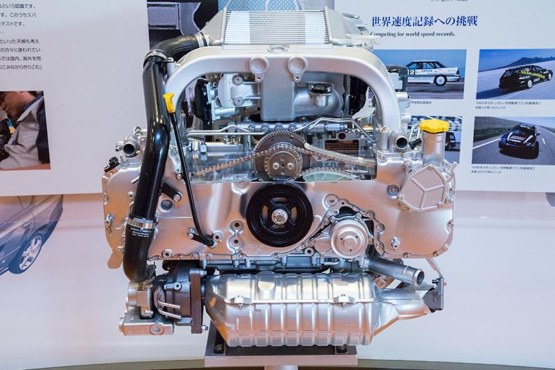 欧州向けに用意された水平対向4気筒ディーゼルエンジンのカットモデル