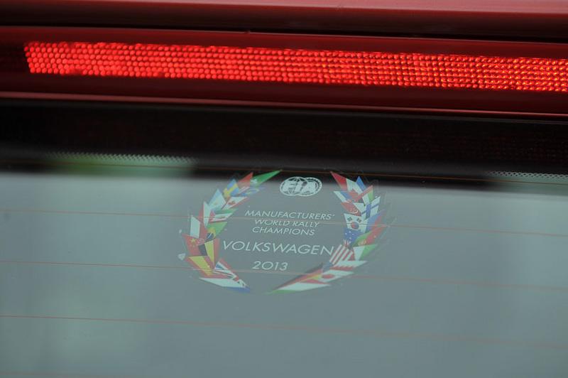WRCでのポロの活躍の成果を示すステッカー