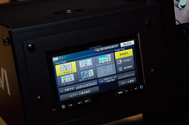 AVIC-RZ09の画面は斜めから見てもかなりキレイ