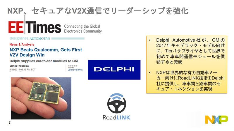 V2X通信では実際の自動車に採用されるとすでに発表されている