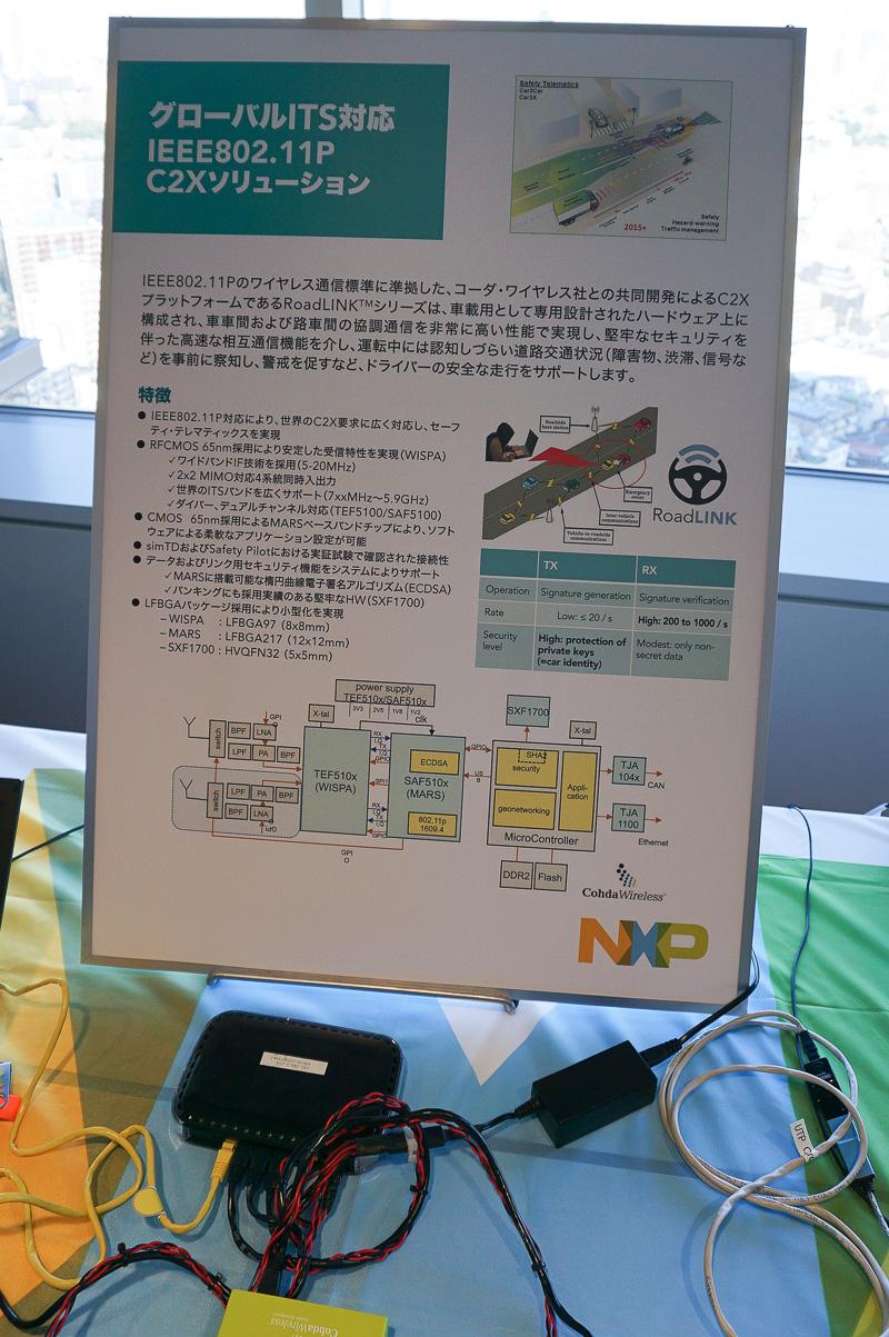 NXPのV2Xのソリューションのデモ