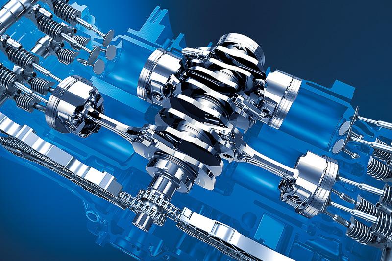 水平対向4気筒 DOHC 2.5リッターのFB25型エンジン