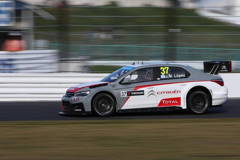 WTCCワールドチャンピオンを獲得した37号車ホセ・マリア・ロペス(シトロエン・CエリーゼWTCC)