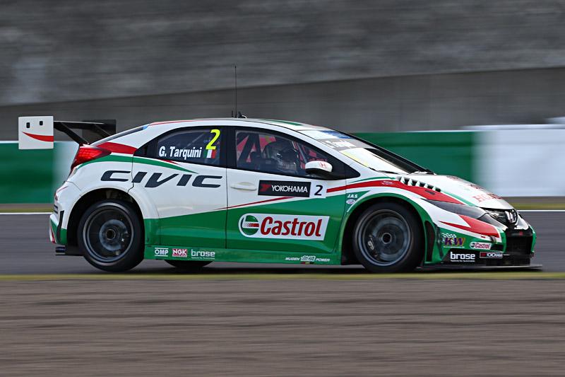 レース2を優勝したガブリエーレ・タルクィーニ(HondaシビックWTCC)