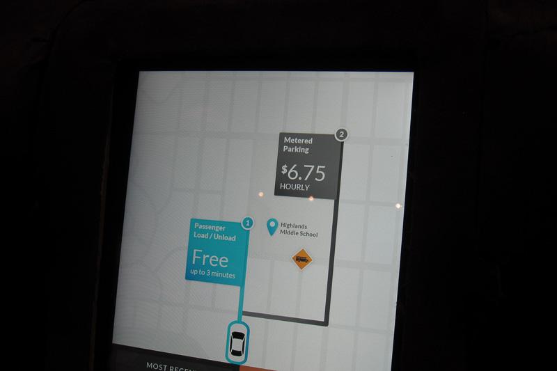 駐車場情報もあらかじめ知ることができ、自動駐車も行っていた