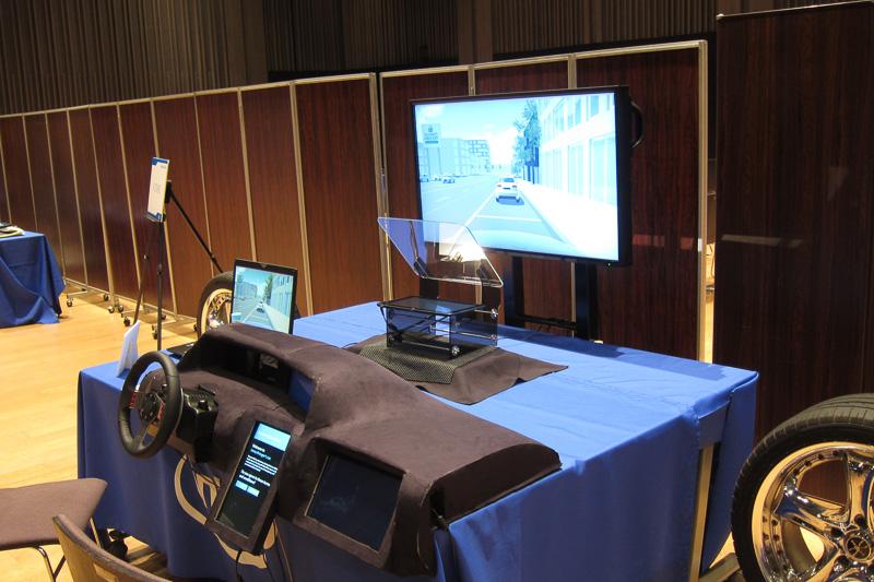 「インテル フューチャー・ショーケース」に展示された「クルマでのパーソナルエクスペリエンス」