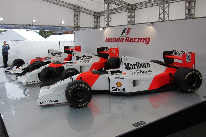 GPスクエアにはホンダ F1のマシンが展示されていた