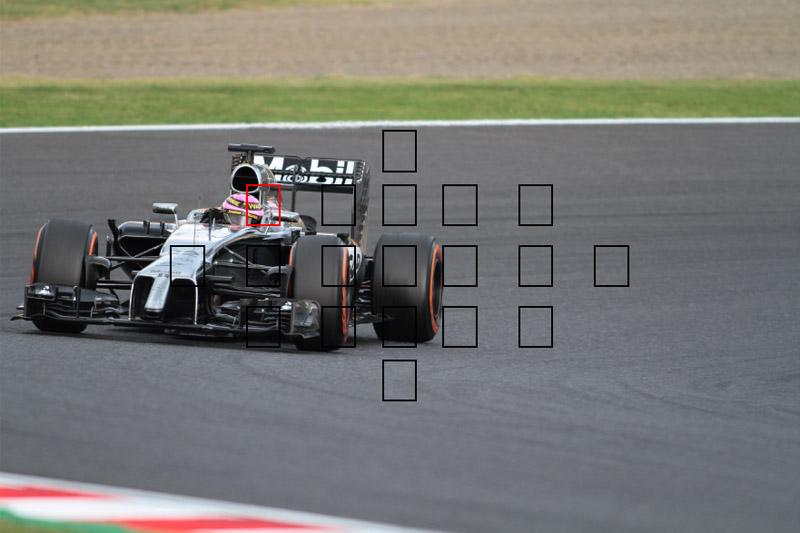 最後にバランスが取れるよう、AFポイントを左上に移動して撮影