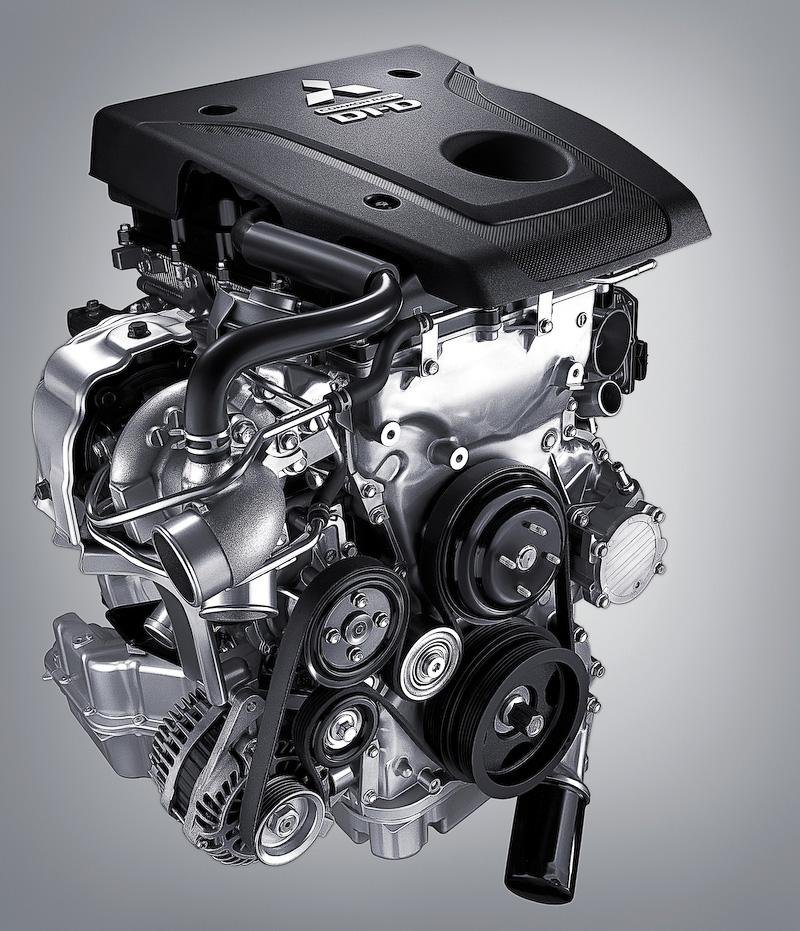 新開発の2.4リッターMIVECディーゼルターボエンジン