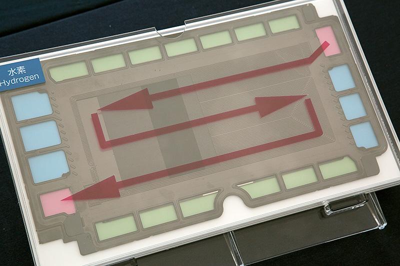 ミライに搭載するFCスタックの内部構造の説明