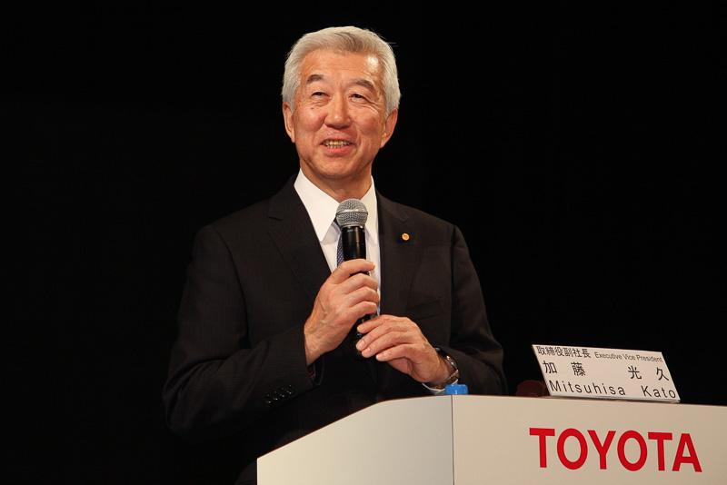 トヨタ自動車 取締役副社長 加藤久光氏