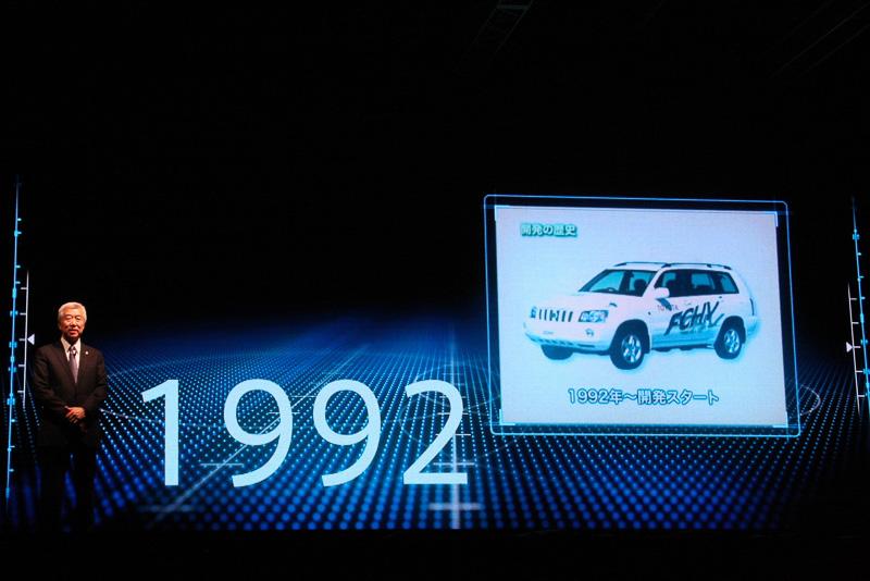 トヨタのエコカー開発とFCV開発の歴史について解説する加藤氏