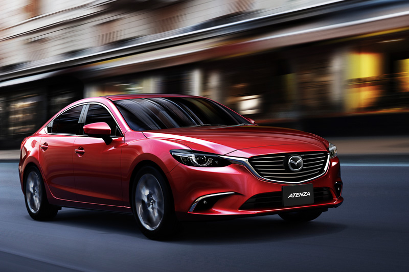 Mazda6改良モデルの走行イメージ