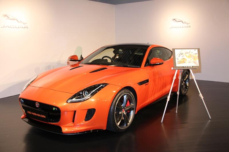 特別仕様車「Fタイプ KEI NISHIKORI EDITON」。ボディカラーはメタリックオレンジの「ファイヤーサンド」