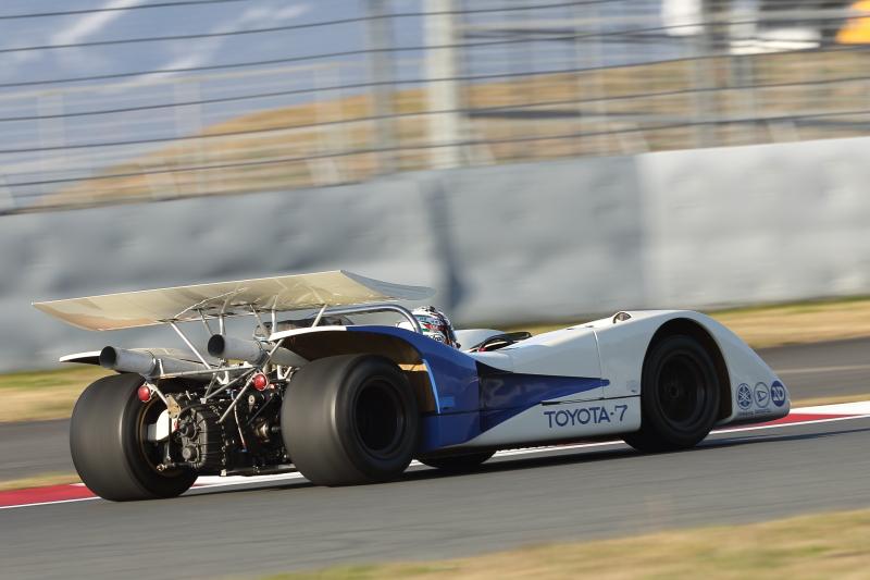 平手晃平選手がドライブしたトヨタ7は1969年に日本CAN-AMで優勝した5リッターNAモデルだ