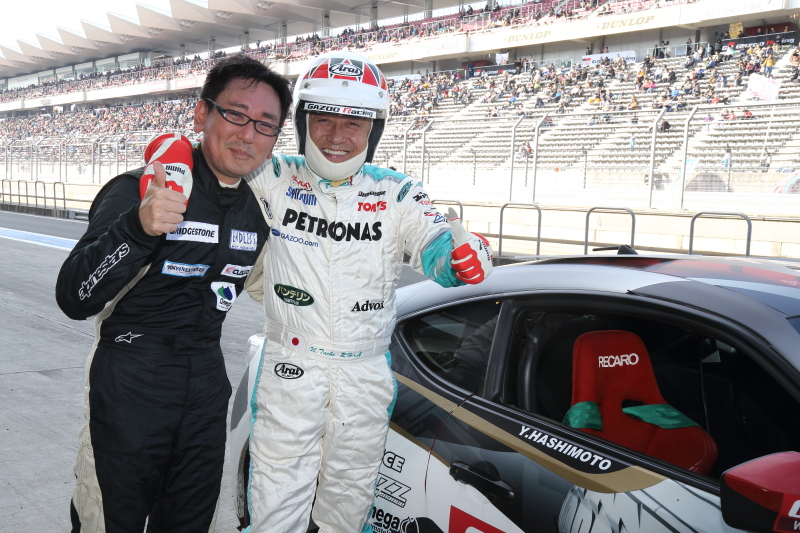 2013年は木下隆之選手と組んだ橋本洋平選手だが、今年のパートナーはTOYOTA TEAM TOM'Sの舘信秀代表だ