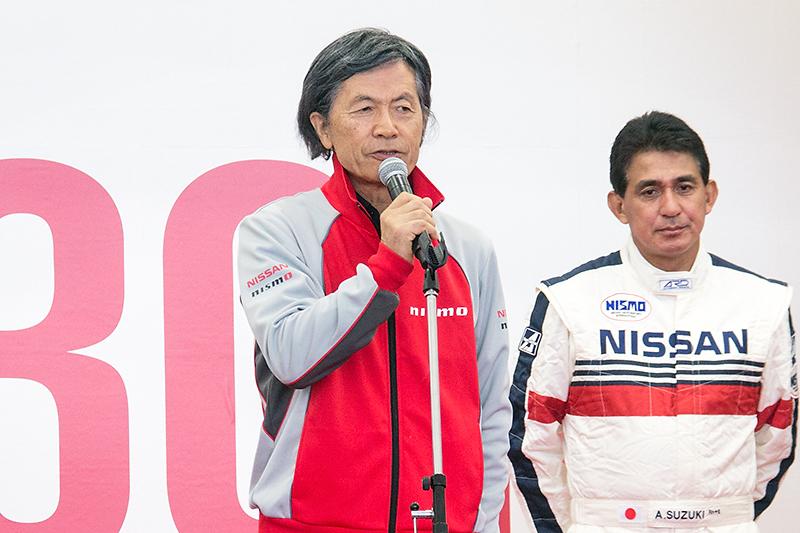 柿本総監督はSUPER GTで4年中3回GT-Rがチャンピオンを獲得したことに触れ、ニスモの技術力の高さをアピール