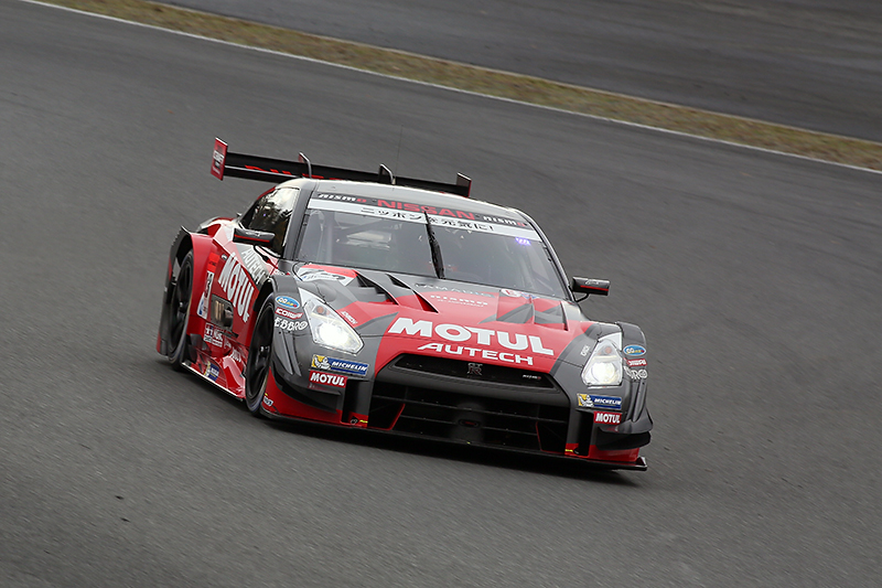 2014年のSUPER GT GT500クラスに参戦したMOTUL AUTECH GT-R。第3戦、最終戦で優勝、第5線、第6戦で2位を獲得しシリーズチャンピオンに輝いた