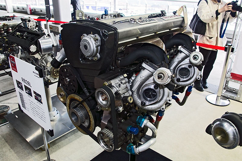 RB26DETTをベースに排気量アップやドライサンプ化などを施したRB26L