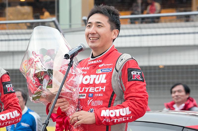 初タイトルに喜ぶ松田次生選手