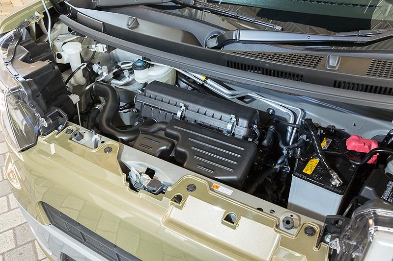 自然吸気モデルは最高出力38kW(52PS)/6800rpm、最大トルク60Nm(6.1kgm)/5200rpm