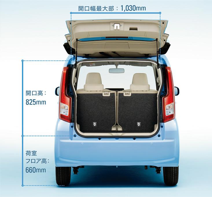 室内空間や使い勝手の面も従来モデルを上回る性能を誇る。特にダウンサイジングする際に不満点に挙がるという荷室長はクラストップの575mmを確保した。軽量の樹脂製バックドアは従来の横開き式から縦開き式に変更されている