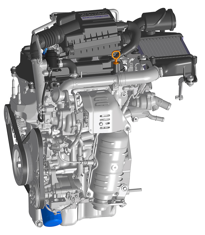 ターボは47kW(64PS)/6000rpm、最大トルク104Nm(10.6kgm)/2600rpmを発生