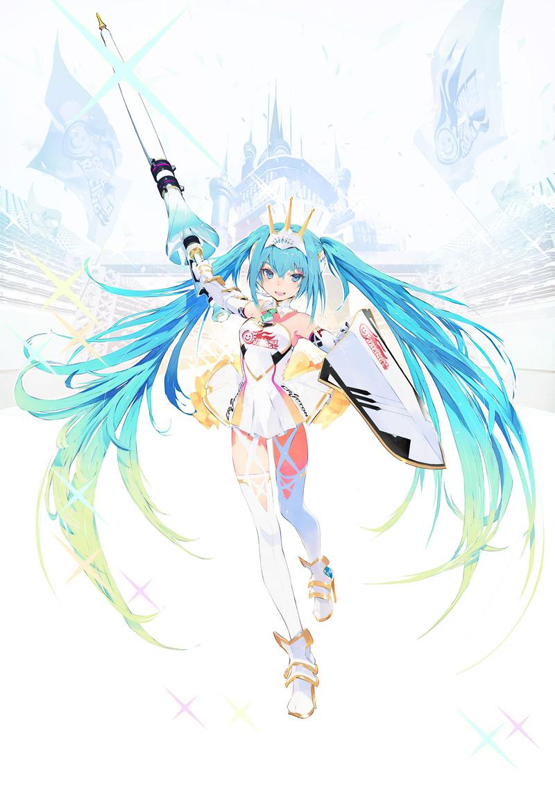 公式キャラクター「レーシングミク2015 ver.」(C)タイキ / Crypton Future Media, INC. www.piapro.net costume designed by コヤマシゲト