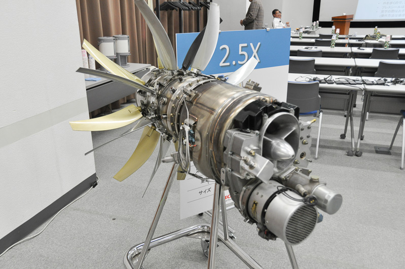 2.5X 2重反転ターボプロップエンジン