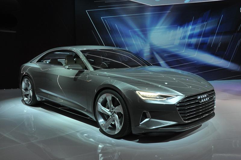 自動運転機能を持つアウディのコンセプトカー「Audi prologue Show Car」。自動運転機能はNVIDIAのTegra X1の演算性能を利用して実現している