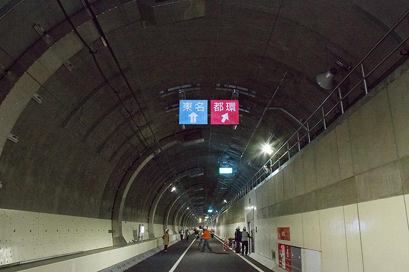 大井方面から大橋JCTのループに向かう連絡路