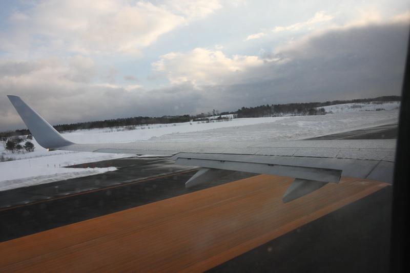 筆者も次の便で羽田へ帰った。離陸滑走時に主翼を見ていると、確かにTYPE-4の液体がバシャバシャはじけていた