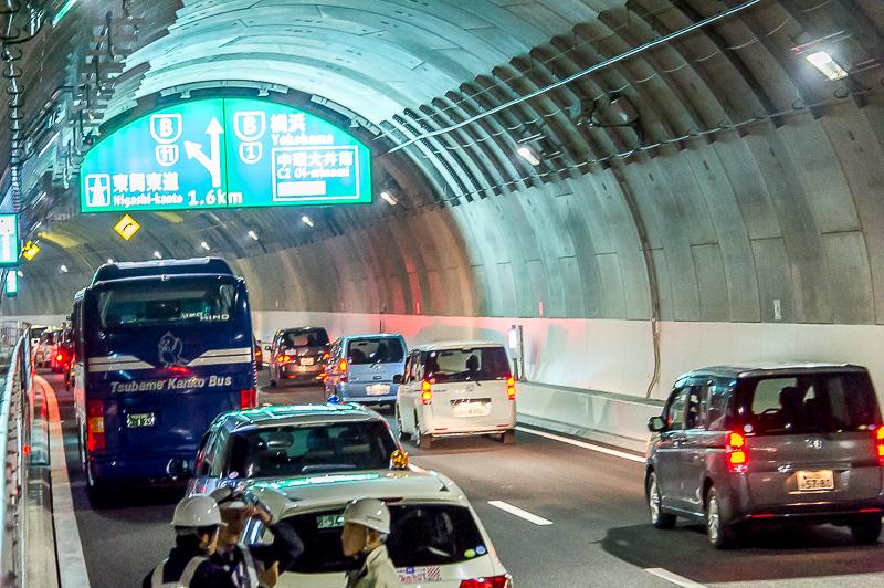 無事に大井北のトンネル出口へ車両は退出された