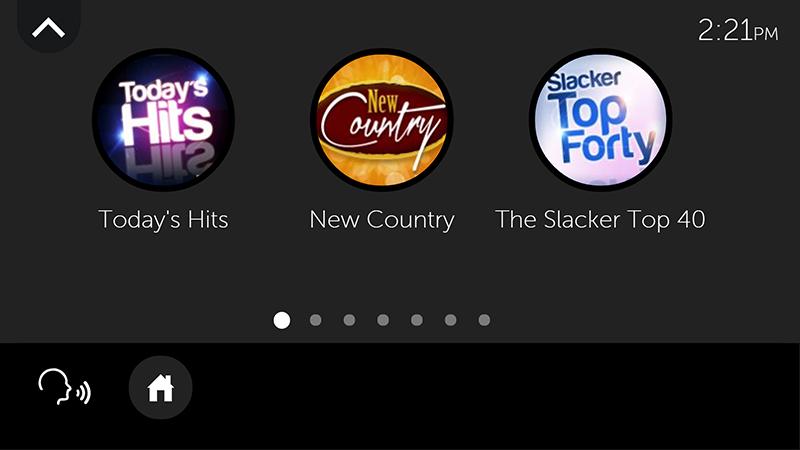 Slacker station(ネットラジオ)の選局画面