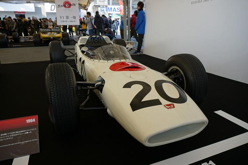 ホンダRA271、1964年のドイツGPにデビューした時に利用した車両。ドライバーはロニー・バックナム