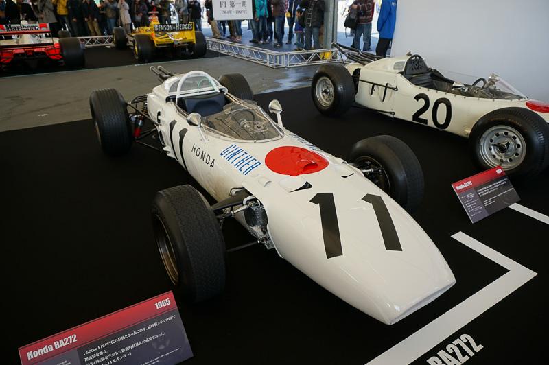 ホンダRA272、1965年の最終戦メキシコGPでホンダが初優勝した時の車両、ドライバーはリッチー・ギンサー