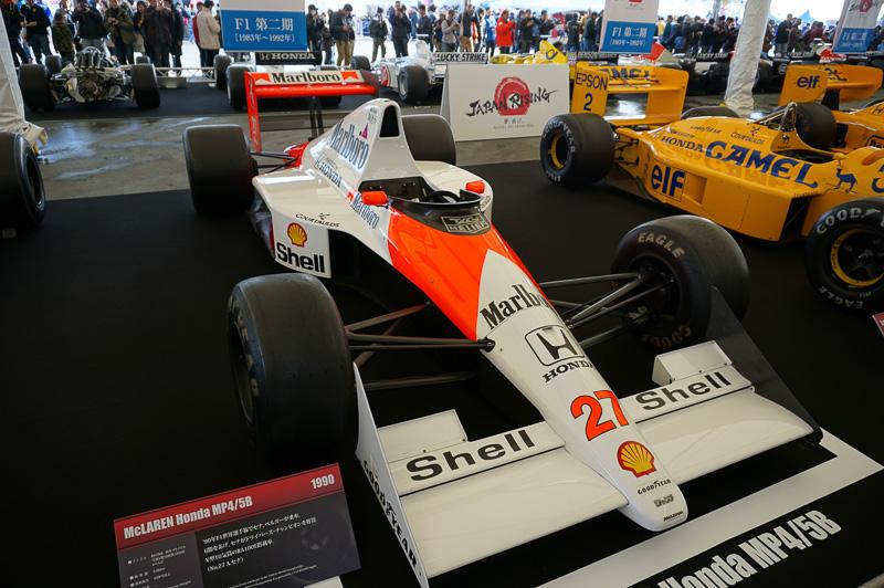 マクラーレン・ホンダ MP4/5Bは1990年の車両。ドライバーはアイルトン・セナとゲルハルト・ベルガーで、セナがドライバーチャンピオンになり、コンストラクターズタイトルも獲得している