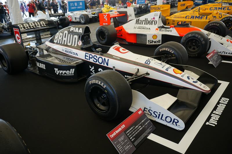 ティレル・ホンダ 020は1991年の車両。ドライバーは中嶋悟とステファノ・モデナ