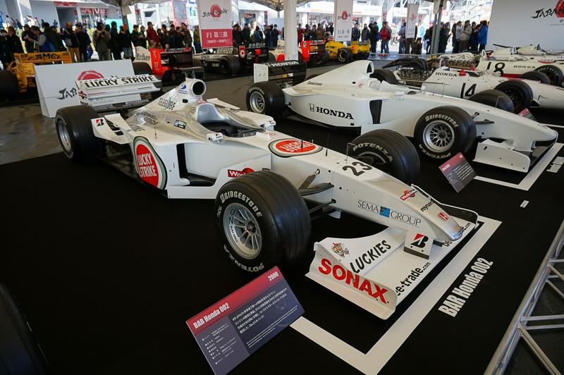 BAR・ホンダ 002は2000年の車両。ドライバーはジャック・ビルヌーブとリカルド・ゾンタ