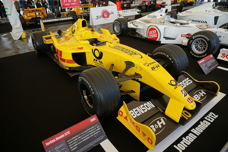 ジョーダン・ホンダ EJ12は、2002年の車両。ドライバーは佐藤琢磨とジャンカルロ・フィジケラ