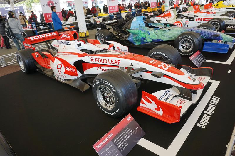 スーパーアグリ ホンダ SA07は2007年の車両、ドライバーは佐藤琢磨とアンソニー・デビッドソン