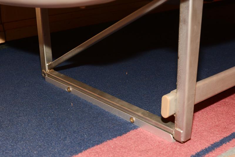 シートの足の部分