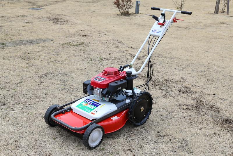 芝・雑草刈機「フレックスモアFL510」も展示されていた